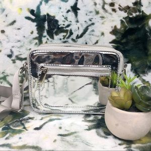 Small Mirrored Disco Clutch Bag